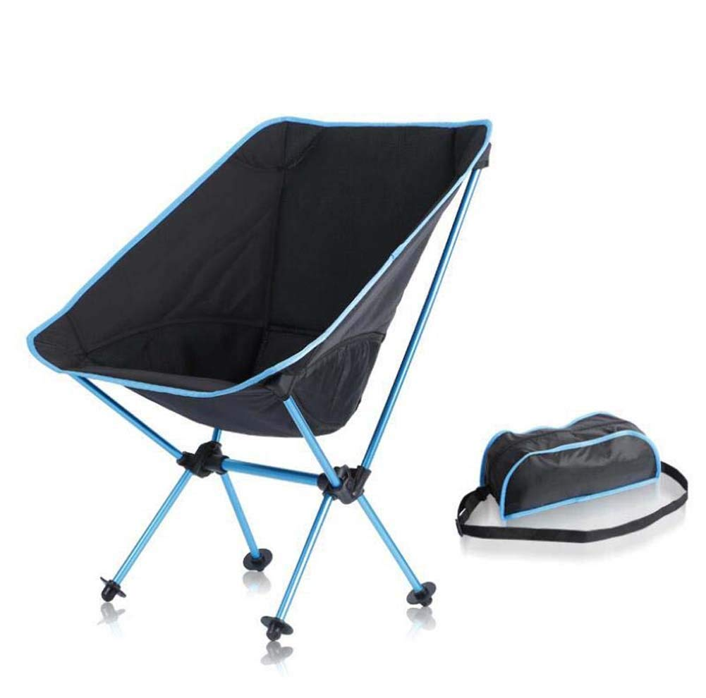 Onfly Outdoor Folding Fishing Chair Ultra Light Portable Moon Chair Leisure Sketch Chair Aviation Aluminum Backrest Camping Chair With Carry Bag,Compact Ultralight Folding Backpacking Chairs