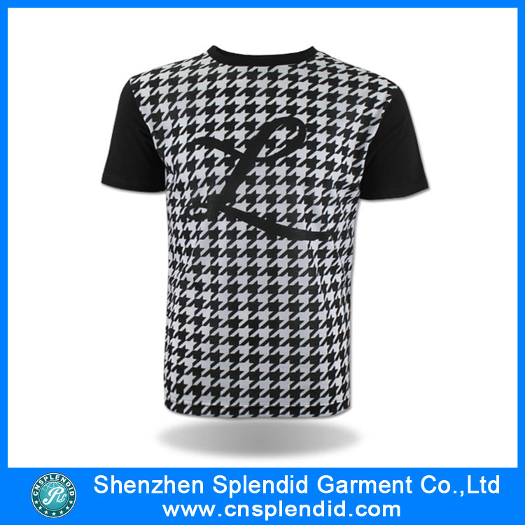 95e8a7a8037 Wholesale Men Clothing Black And White Dot Tshirt Factory Overruns ...