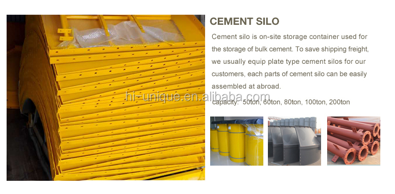 Hot sale of 60 ton horizontal design bolted cement silo