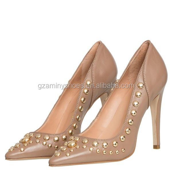 fashion heel custom shoes Latest high lady rivet with design women pump sexy women shoes wnIdZdU78q