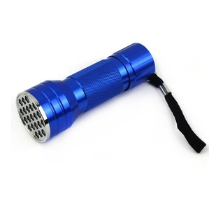 Factory Price 360nm to 395nm 21 LED Aluminum Ultraviolet Black Light UV Flashlight And handheld UV Torch