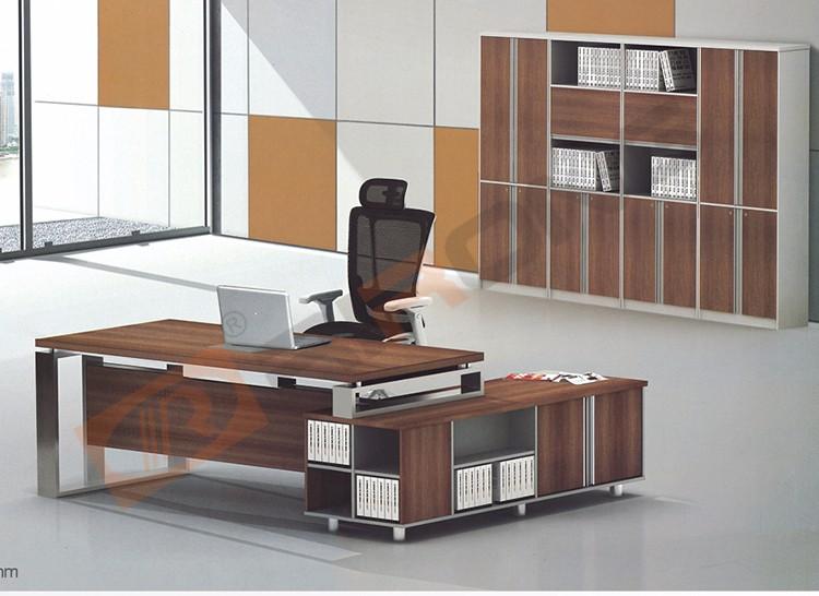 modern home office furniture desk leather melamine wooden