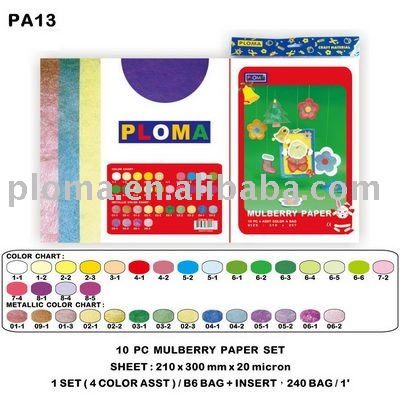 PA13 10PC MULBERRY PAPER SET DIY KITS