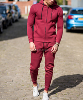 Wholesale slim fit latest design tracksuit from China factory /custom mens cotton mix polyester print logo sport tracksuit H-2