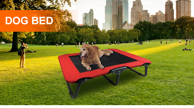 Foldable Pet Elevated Outdoor Beds Steel Frame Mesh Cot folding cot bed pet cots folding dog bed