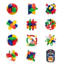Chinese traditionele plastic educatief 3d burr unlock puzzel <span class=keywords><strong>kubus</strong></span> voor kids