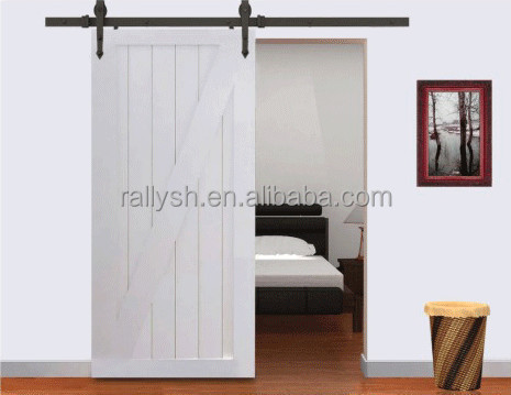 SHANGHAI RALLY Series Sliding Barn Door Hardware for Wood Doors