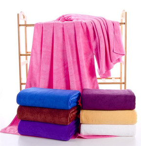 Beauty parlor bed sheet towel car cleaning towel big microfiber towel for bed sheet