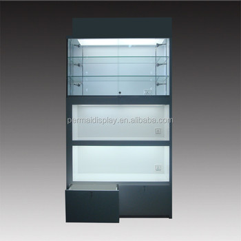 Wooden Display Cabinets 3 Tier Acrylic Cosmetic Stand
