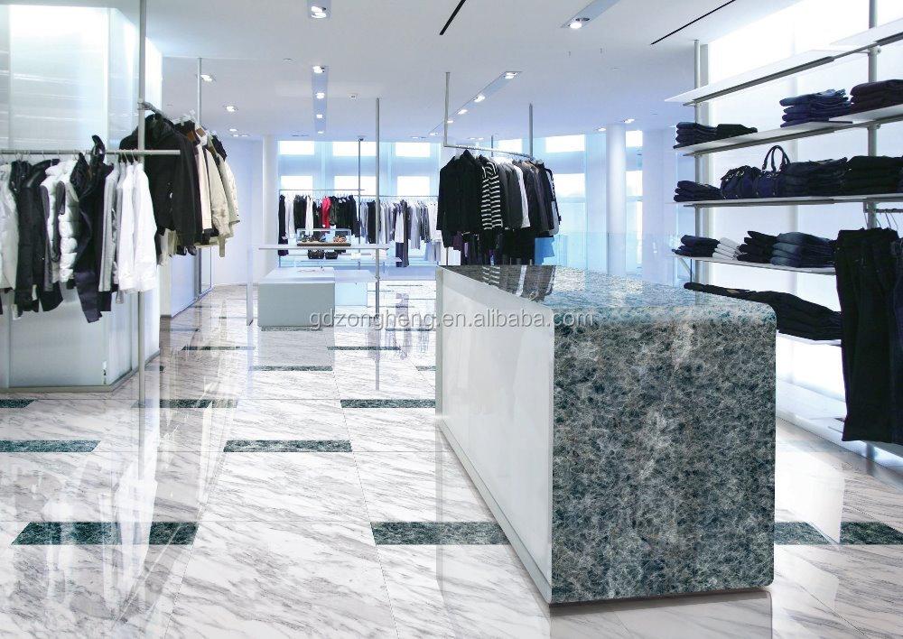 Personalizzato tipo vetrina in vetro marmo onice piastrelle stampa