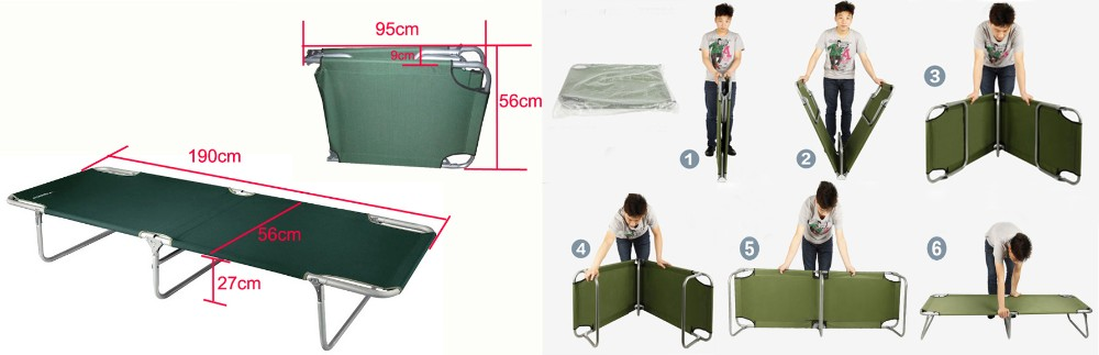 Metal furniture folding metal bed, high quality folding bed, foldable metal bed