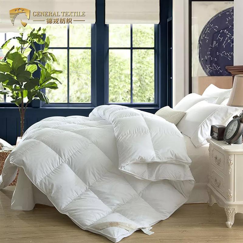 Luxury cotton dowm proof fabric Quilt Double Size Luxurious Super Soft 90% White Duck Feather & Down Duvet