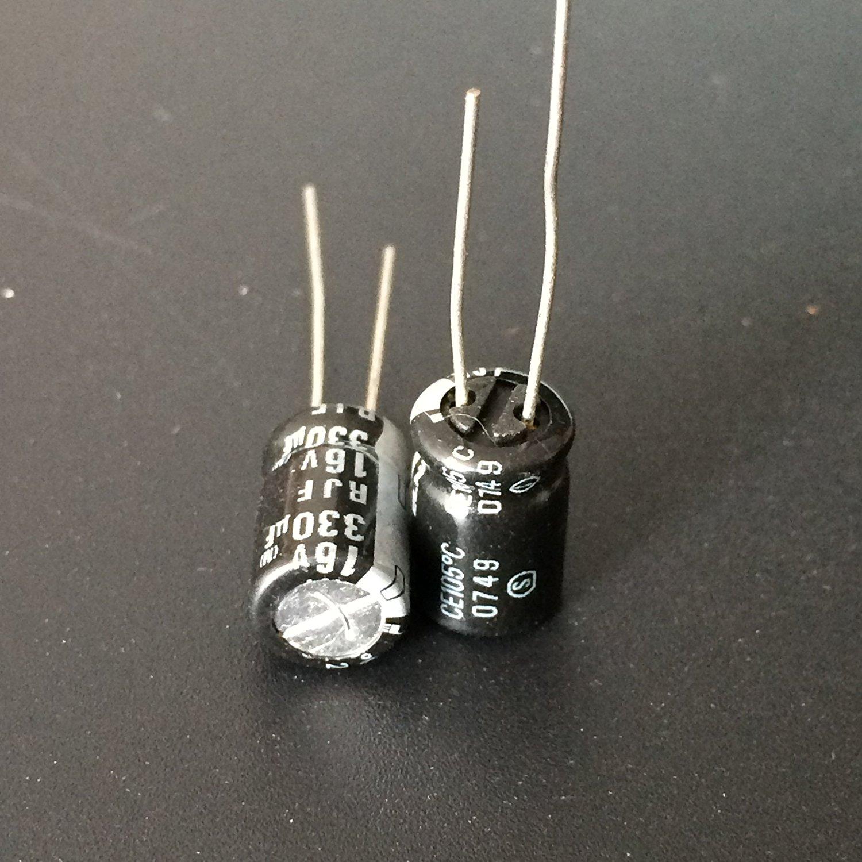 E-First 20pcs 16V 330uF 16V330uF Japan ELNA RJF 8x11.5mm Low Impedance Audio Capacitor
