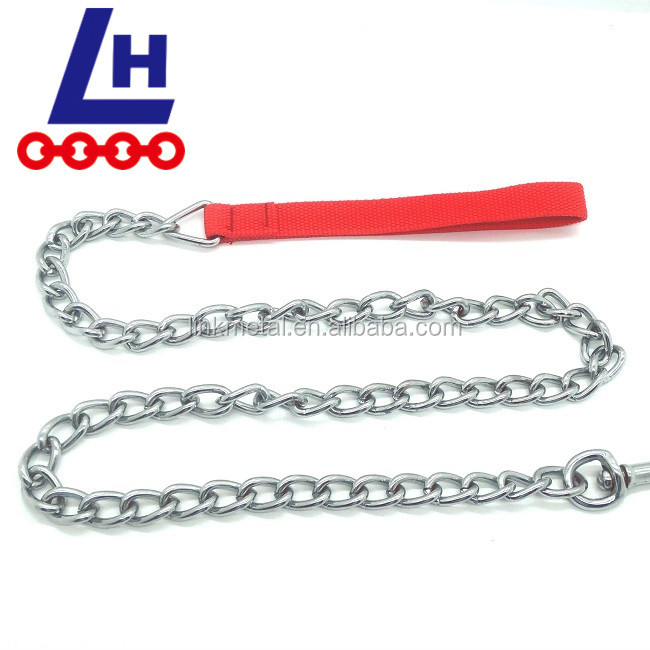 Nickel Plated Steel Pet Animal Dog Chains Welded Twisted Link Chain