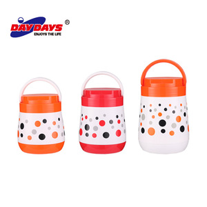 Plastic Body Glass Refill Thermal Food Container / Hot Pot / Lunch Box For Kids Food Warmer