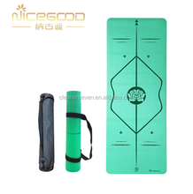 Eco -friendly printed natural rubber PU yoga mat Hangzhou