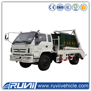 China 5ton Dongfeng Swing Arm Garbage Truck Container Detachable ...