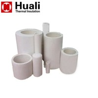Hot pipe 1260 high pure vacuum formed ceramic fiber heat resistant tube for high temp insulation