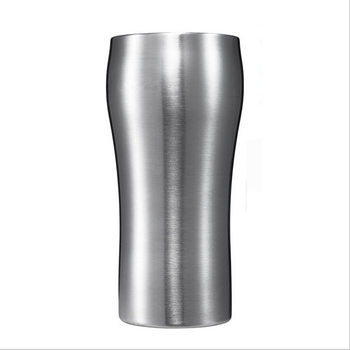 2017 new stainless steel metal cup holder double wall tea cups Ice cold beer mug coffee mug cold drinks cooler cup 300ml