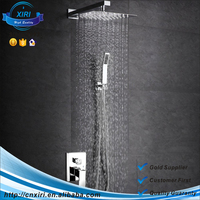 Free Collocation Luxury Wall Mounted Square Style Brass Waterfall Shower Set Factory Direct New Rainfall Bathroom Shower Kit