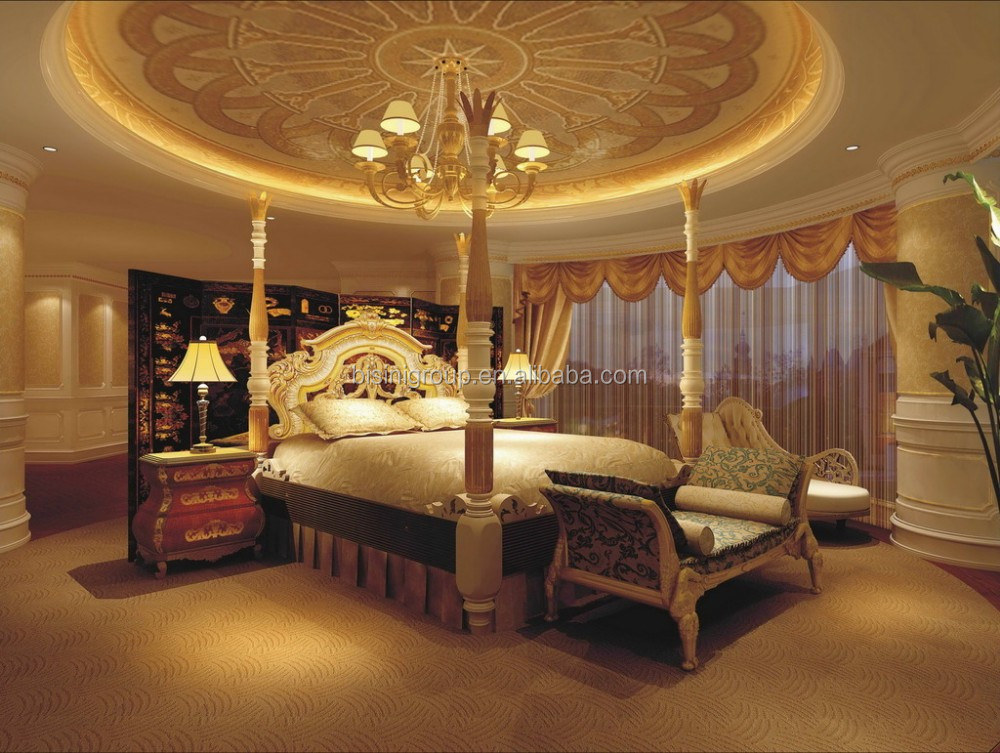 Luxury exquisite interior design for villa master bedroom for Exquisite interior designs