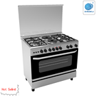 2019 hot sale 90*60cm stainless steel body freestanding cooking range with 4 gas burners and 2 hotplates