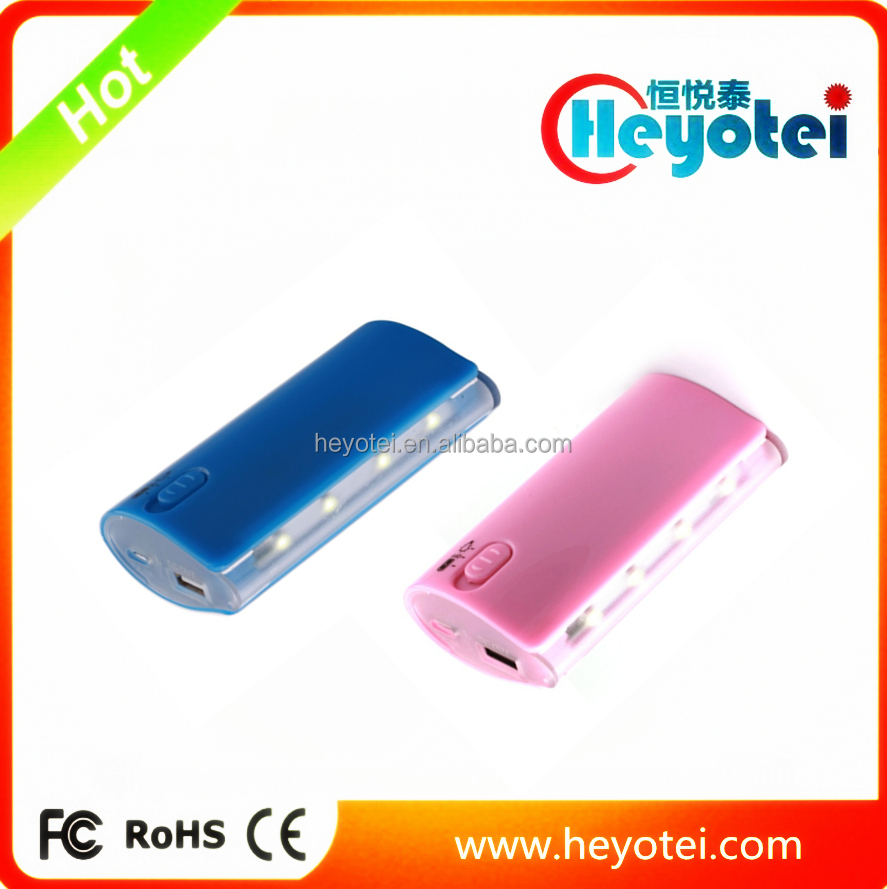Heyotei Famous Brand Mobile Power Bank With Colorful LED Bulb Marquee Lamp Mobile Power Bank Online Shopping India