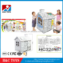 Creative 3d painting toy puzzle house design 3d DIY doodle for kids HC324487