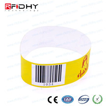One Time Use RFID Tyvek Paper Wristband for Hospital Patients Identification