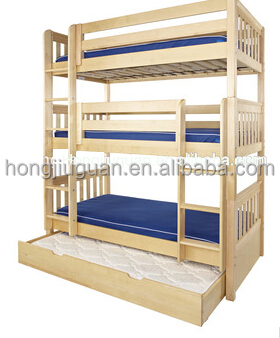 pine wood bunk bed with pine wood material and modern appearance 3