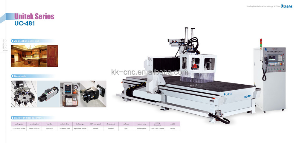 wood cnc working engraving machine UC-481
