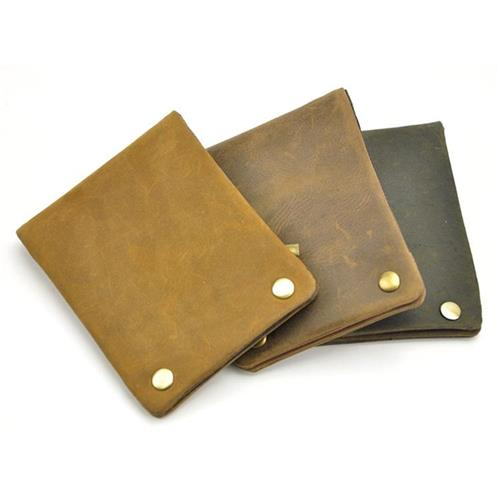 Genuine Leather Mens Business Wallets Precious Polyester Lining Mens Business Wallets Interior Zipper Pocket Design