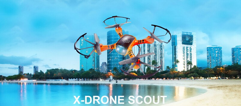2016 H805 X-drone Scout rc quadcopter 2.4G 4CH 6-axis gyro 3D flips and rolls rc drone