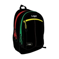 "High quality 600D 18"" backpack custom school bag"