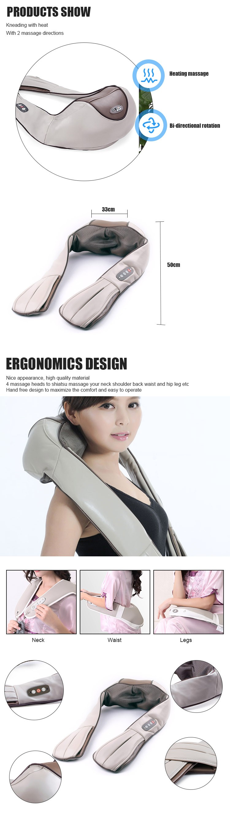 2018 Wholesales Good Shape Hand Held Electric Massager