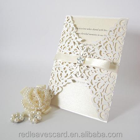 2018 best popular laser cut wedding invitation card design with envelope