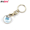 Trolley coin holder keyring maker custom shopping cart coin keychain