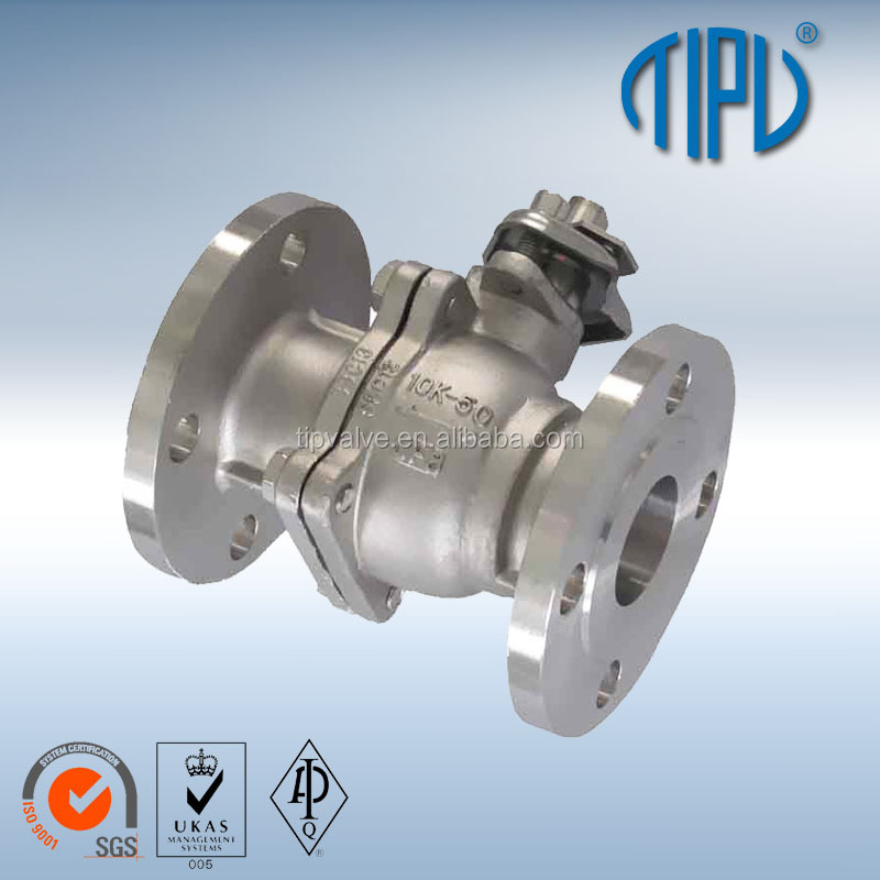 Lever Float RF Flange Type Stainless Steel CF8 4 Inch Ball Valve