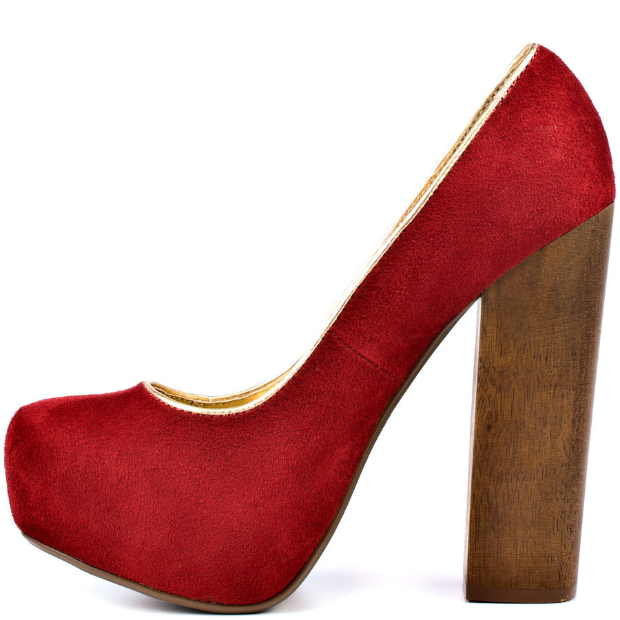 Get Quotations · Red Nubuck Leather Thick Platform Square High Heels Chaussure  Femme 2015 Stilettos Sexy Calzado Mujer Chaussure 094d384cc67