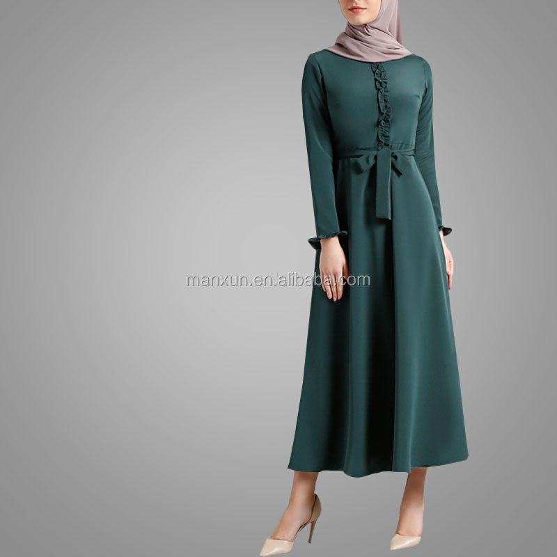 62aed68dedb6b Hot Sale Muslim Maxi Dress Islamic Abaya Dubai Women New Design Fancy Gown  Online