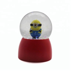 wholesale diy mini Minions gift snow globe