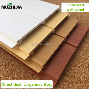 Waterproof PVC embossed wood grain composites ceiling wall panel for interior decoration
