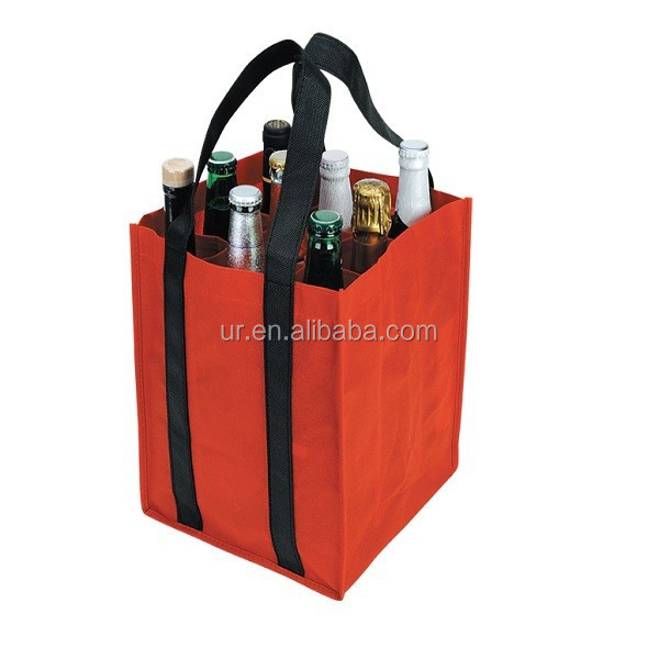Custom wine bottle tote gift bag with printed company logo free shipping