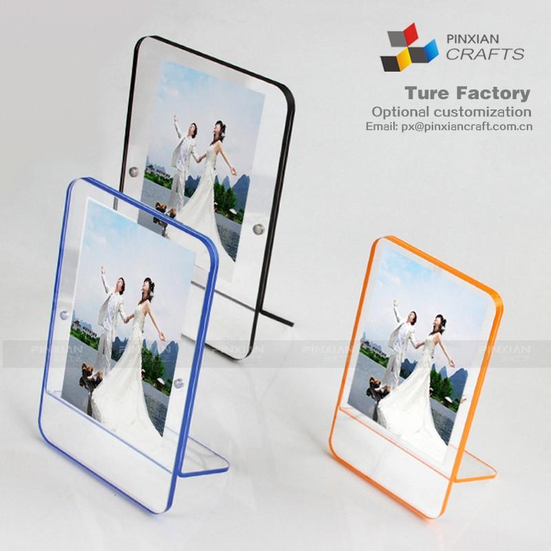 Fábrica personalizada transparente marcos de acrílico forma cuadrada ...
