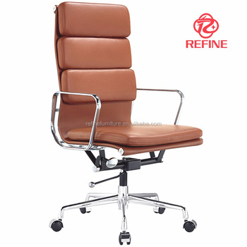 modern executive high back brown leather best ergonomic office chair