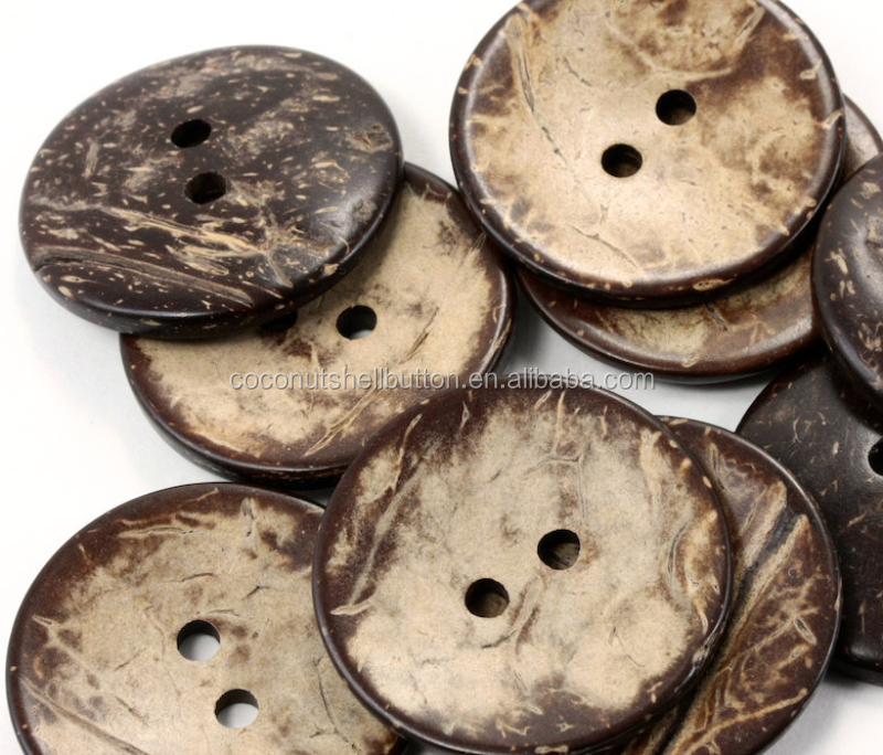double flat back side garment buttons real sewing coconut buttons in round shape for clothing