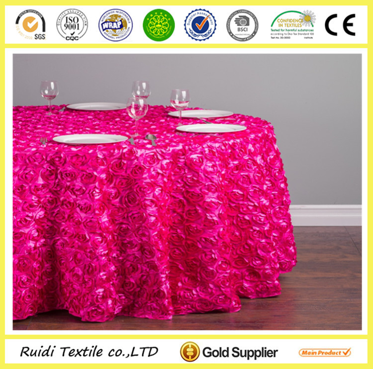 Charming Embroidery Pattern Elegant Party Table Cloth ,Party Table Cover