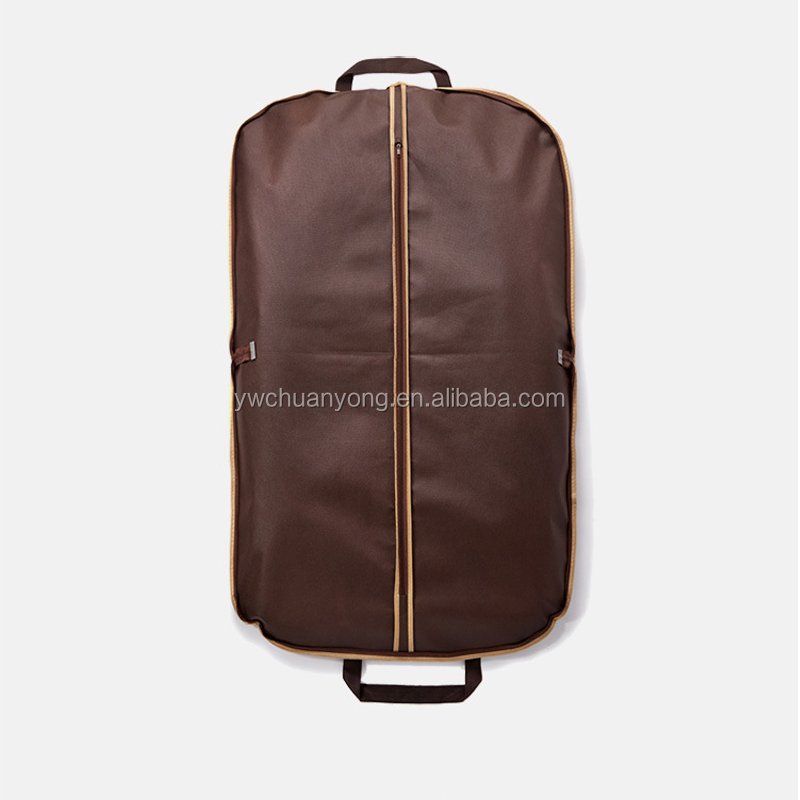 Custom Wholesale Non Woven Foldable Cloth Coat Cover Ladies Mens Travel Suit Garment Bag