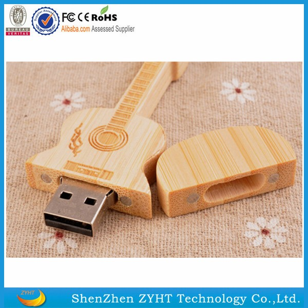 4GB Cute Guitar Style USB 2.0 Flash Drive Storage Memory Pen U Disk h
