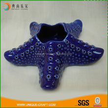 Super popular wonderful blue ceramic starfish decorations